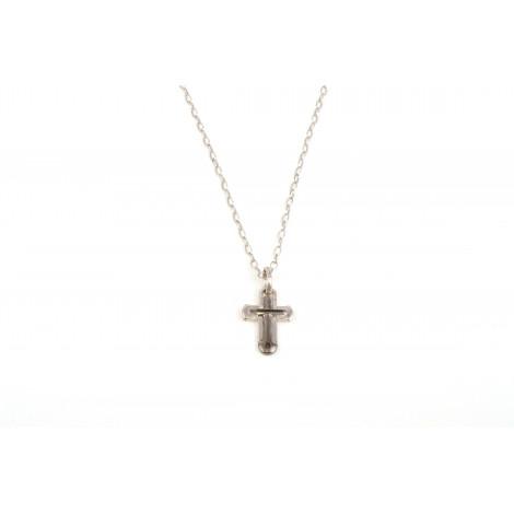 Collana Uomo con Pendente ONAIS J612 Croce in Argento