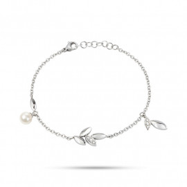 Bracciale donna MORELLATO SAER25 GIOIA in acciaio,perla coltivata e cristalli