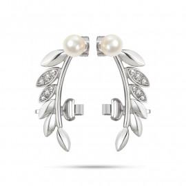 Orecchini donna MORELLATO SAER22 GIOIA in acciaio,perle coltivate e cristalli