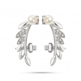 Women's earrings MORELLATO SAER22 GIOIA in steel, cultured pearls and crystals