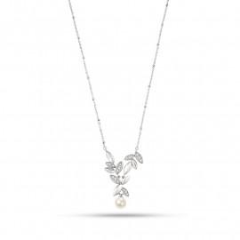 Collana donna MORELLATO SAER18 GIOIA in acciaio,perla coltivata e cristalli