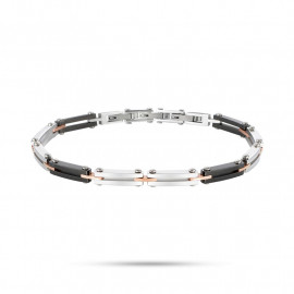 MORELLATO SAEV27 ALFA steel bracelet in steel, pvd pink and black gold