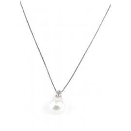 Stainless Steel Necklace with Pendant ONAIS J1089 in Natural Pearl
