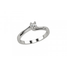 ELLI'S Ladies' Solitaire EL025405 White Gold with Briallante