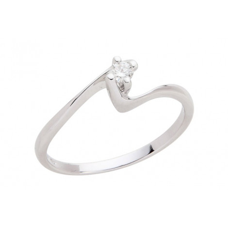 Anello Donna ELLI'S KF152320 Oro Bianco con Brillante