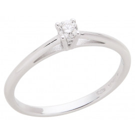 White Gold Women's Solitaire Ring with Brilliant ELLI'S Nardelli EL028905