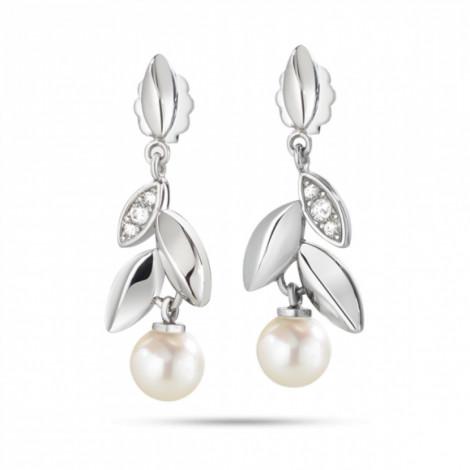 Orecchini donna MORELLATO SAER23 GIOIA in acciaio,perle coltivate e cristalli