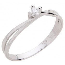 Solitaire Woman Ring With White Gold Shades ELLI'S NARDELS EL029010