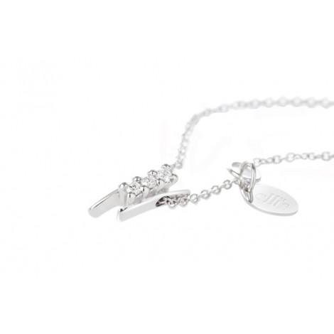 Collana Donna ELLI'S NARDELLI EL0201 Pendente Oro Bianco con Briallanti