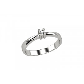 White Gold Women's Solitaire Ring With Brilliant ELLI'S Nardelli EL025307