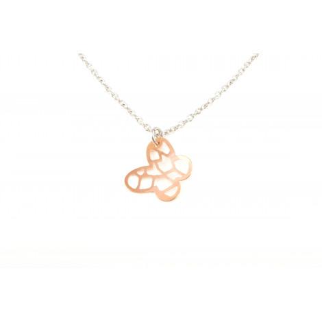 Collana Donna in Acciaio MOOBY Q3762 con Pendente Forma Farfalla