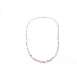 Collier Uomo in Oro Bianco 18 kt Semi-rigido manifattura italiana H142