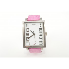 Women's Watch OIW LADY-RECTANGULAR Steel Case Leather Strap