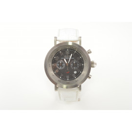 Chronograph Watch Woman OIW W11108 Steel Case Leather Strap