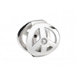 Charm in acciaio donna MORELLATO SCZ206 DROPS con cristalli bianchi