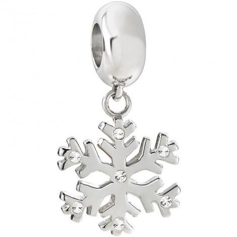 Charm in acciaio donna MORELLATO SCZ647 DROPS a forma di fiocco di neve