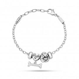 Bracciale con charms donna MORELLATO SCZ716 DROPS in acciaio e cristalli
