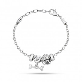 Bracelet with woman charms MORELLATO SCZ716 DROPS in steel and crystals
