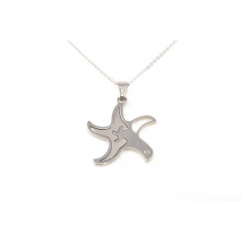 Stainless Steel Necklace ONAIS N1849 with Pendant Shape Star with Zircon