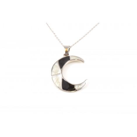 Collana Donna in Acciaio ONAIS Q5102 Pendente Luna con Pietre e Cristalli