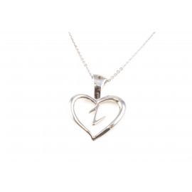 Woman Stainless Steel Necklace ONAIS W1029 Heart Shape Pendant with Zirconia
