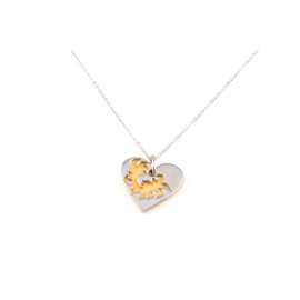 Stainless Steel Necklace ONAIS W5634 Heart Shape Pendant