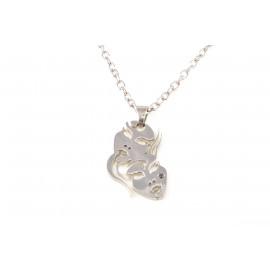 Collana Donna in Acciaio ONAIS W7687 Pendente Segno Zodiacale Gemelli