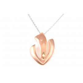 Stainless Steel Necklace ONAIS W7708 Zirconated Pendant