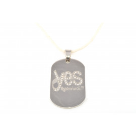 YES Q6517 Cotton Women's Necklace with Pistrina Military Steel Pendant