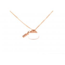 Collana Donna in Acciaio YES A861 con Pendente a Borsetta Placcata rosa
