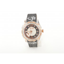 SWEET YEARS Y3589 Women's Watch Polycarbonate Case Leather Strap