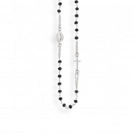 Collana rosario girocollo unisex AMEN CROBN3 ROSARIUM in argento 925