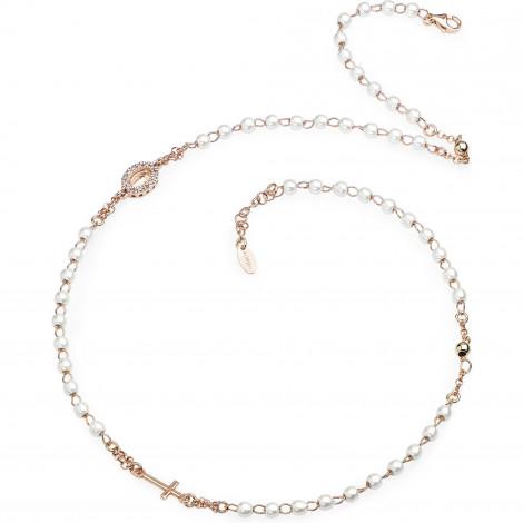 girocollo donna argento  Collana rosario girocollo donna AMEN CRORBZ-M3 ROSARIUM in argento ...