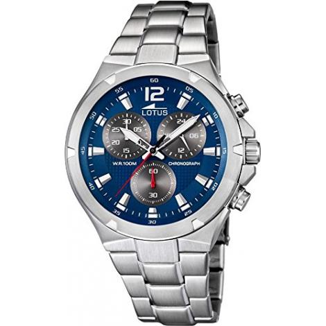 Orologio Uomo LOTUS 10122/3 Cronografo Cassa e Cinturino in Acciaio
