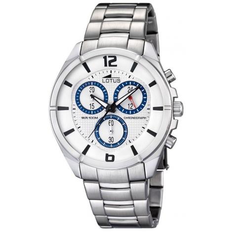 Orologio Uomo LOTUS 10123/1 Cronografo Cassa e Cinturino in Acciaio