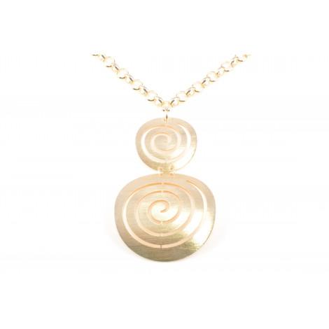 Collana Donna in Acciaio MOOBY VS045-G con Spirali