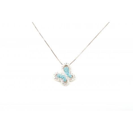 Collana Donna in Argento ONAIS J2958 Pendente Farfalla con Cristalli