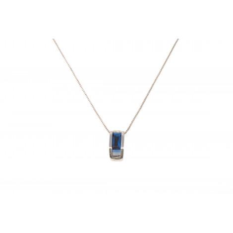 Collana Donna in Argento ONAIS J6673 Pendente con Cristallo blu