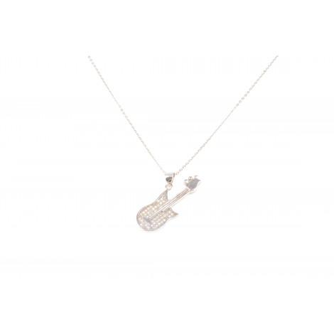 Collana Donna in Argento ONAIS KF0145 Pendente Forma Chitarra con Cristalli