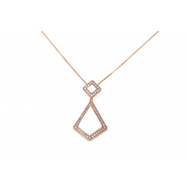 Woman Necklace in Silver ONAIS Q4501 Pendant with White Stone