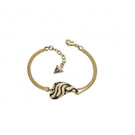 GUESS BRACELET WOMAN DOUBLE CHAIN ​​COLOR GOLD 18-20 cm. UBB70242