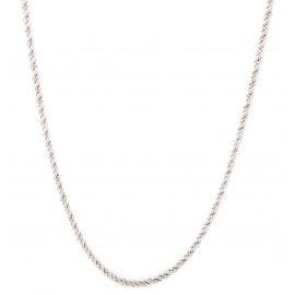 Collana donna oro bianco corda a due fili peso 14,70 gr G251