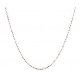 Collana donna oro bianco peso 3 gr G1440