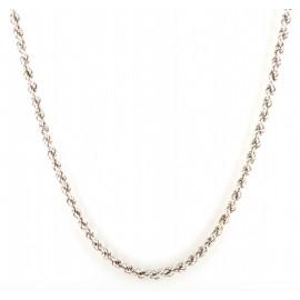 Collana donna oro bianco peso 13,25 gr lung. 50 cm maglia moderna H243