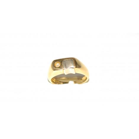 5480803dd86add Anello uomo oro giallo 18 k con zaffiro bianco peso 6,20 gr b0709 ...