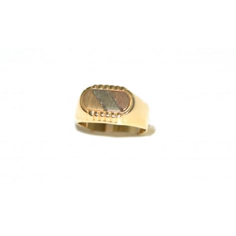1cee756e538cdb Anello uomo oro giallo 18 k modello tre ori peso 4,80 gr HH393 ...