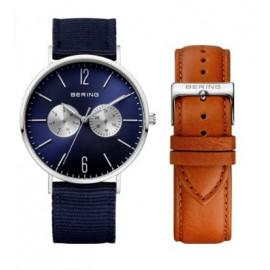 Orologio uomo BERING +cinturino ricambio quadrante bleu  KF164708
