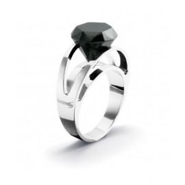 Anello Donna BROSWAY BDI07B Acciaio con Cristallo nera