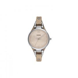 Orologio Fossil donna riley  cint. pelle quadrante beige ES2830