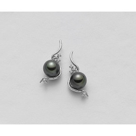 Pearl Earrings MIKIKO MO098304SANE080 Gold 18 Kt White Diameter 8 / 8.5